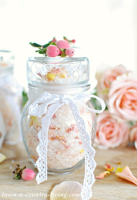 DIY Rose Bath Salts