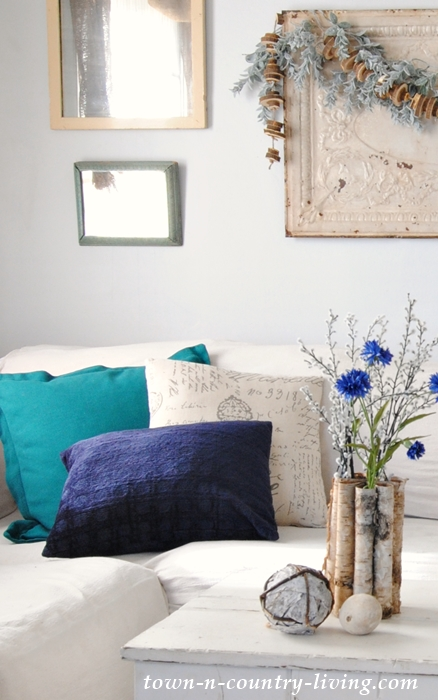 Winter Decorating with Tommy Hilfiger Pillows