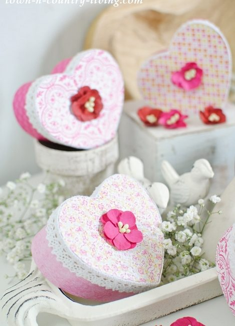 Valentine Heart Boxes. See How to Make Them