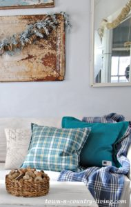 Winter Decorating and a Tale of Two Pillows