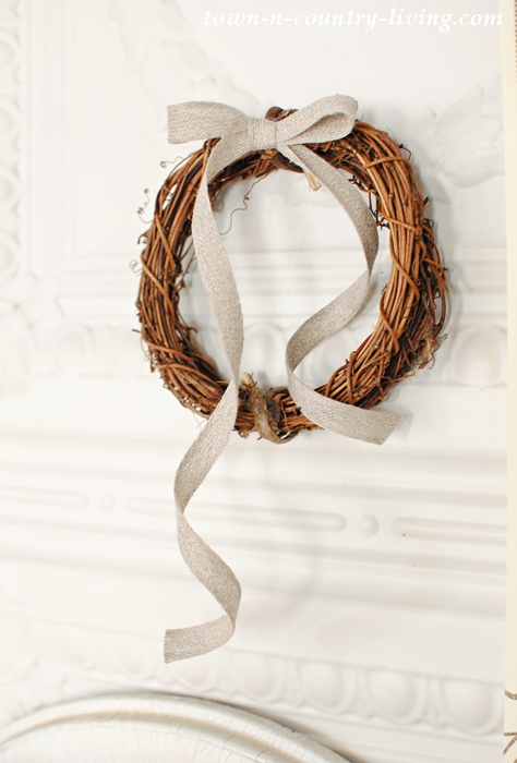 Grapevine Wreath with Natural Ribbon