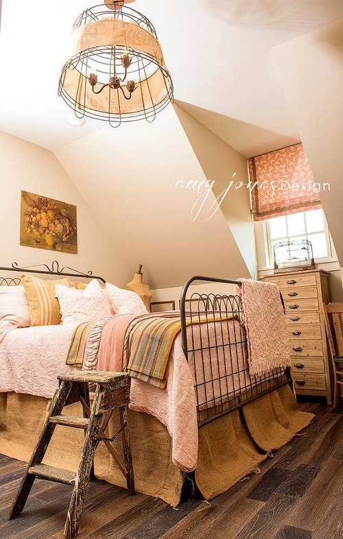 Feminine Farmhouse Bedroom