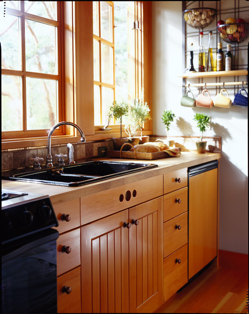Rustic Kitchen in Small House