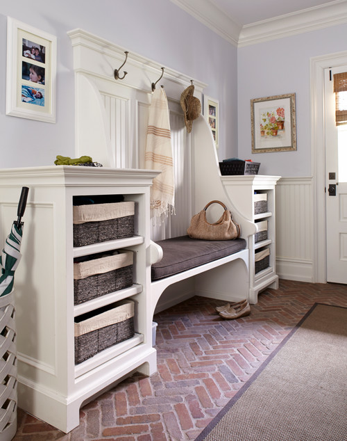 Traditional Entryway with Custom Built-Ins