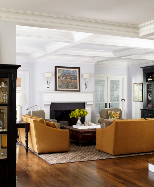 Traditional Living Room with Architectural Details