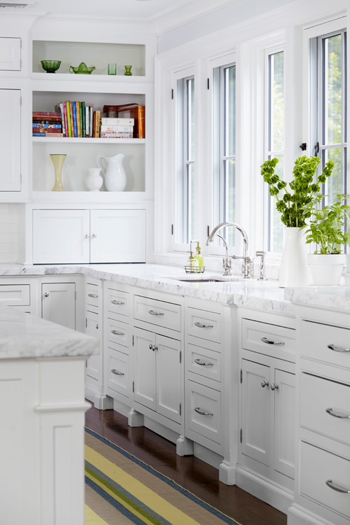 White Kitchen in a New York Home