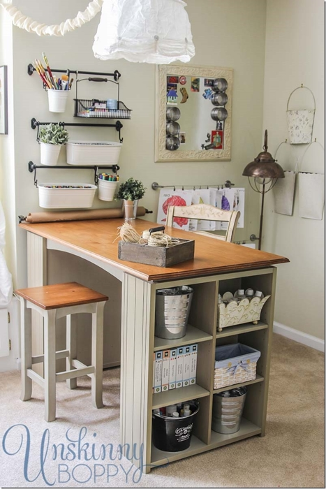 How to Organize a Craft Room by Beth at Unskinny Boppy