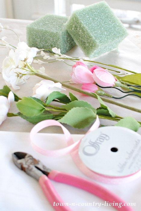 Supplies for Spring Centerpiece