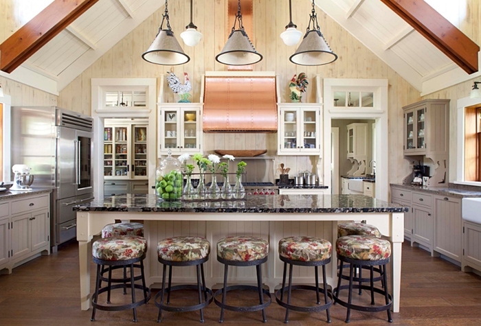 Rustic Kitchen in Colorado Retreat