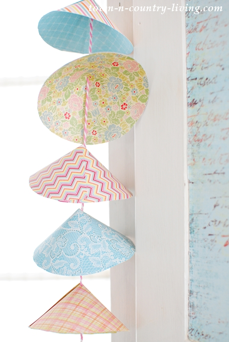 Paper Garland Made from Decorative Scrapbook Paper