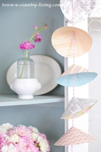 Pretty Paper Cone Garland How-To