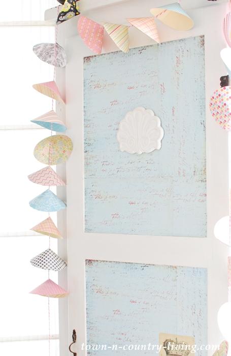 Pretty Paper Cone Garland - Quick and Easy to Make