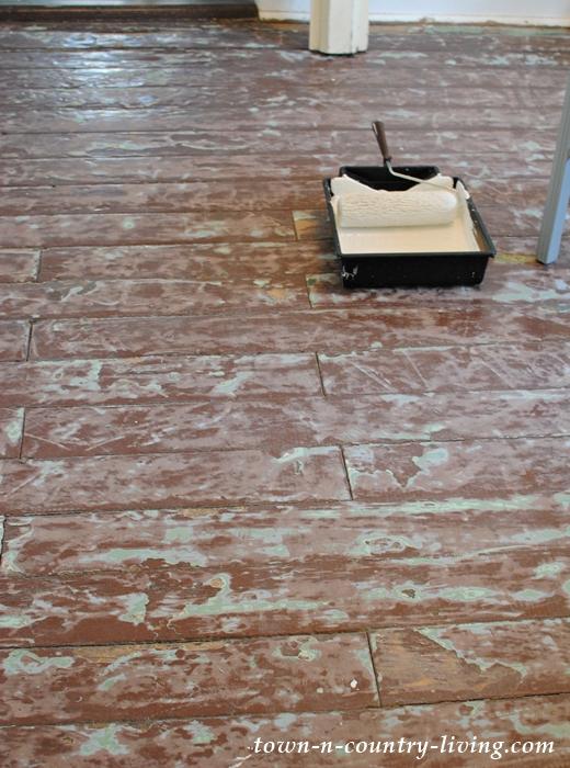 Sanding Floors before Painting