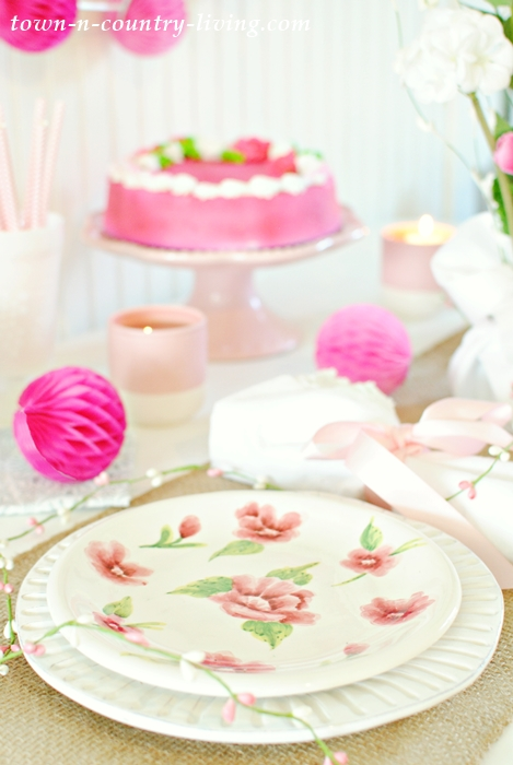 Spring Table Setting in Pink