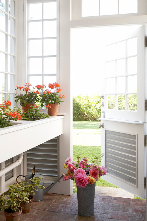 Bright and Airy Potting Shed with Multiple Windows