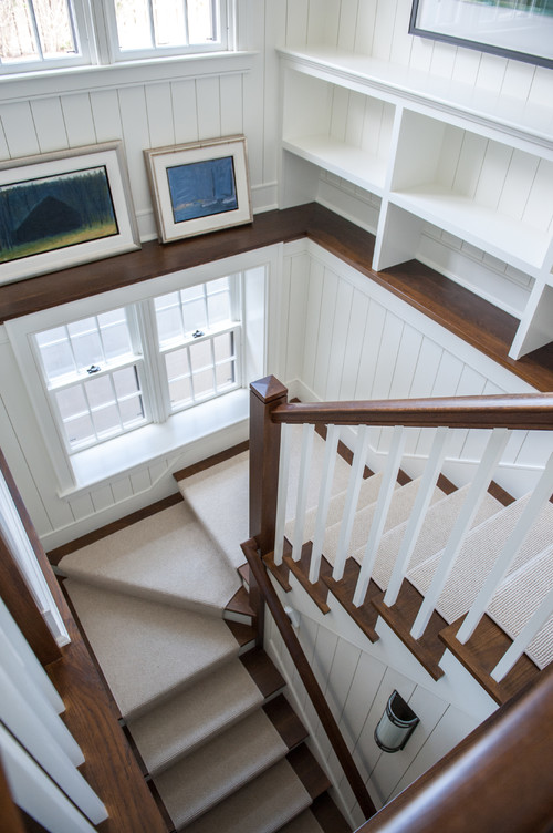 White and Wood Staircase