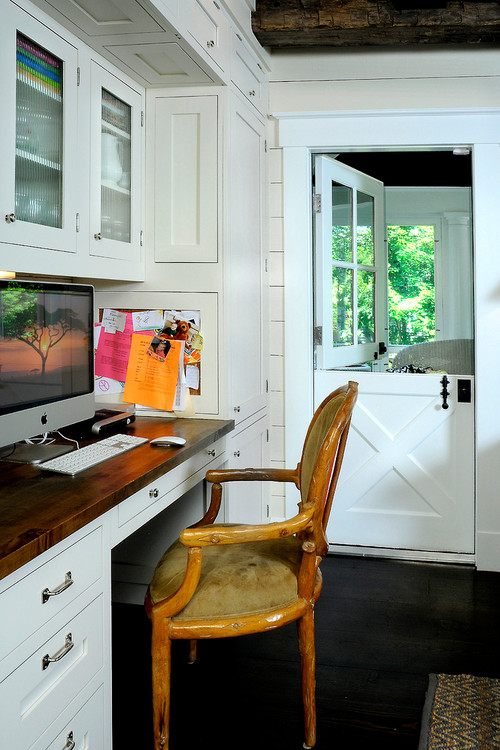 Home Office in Farmhouse Kitchen