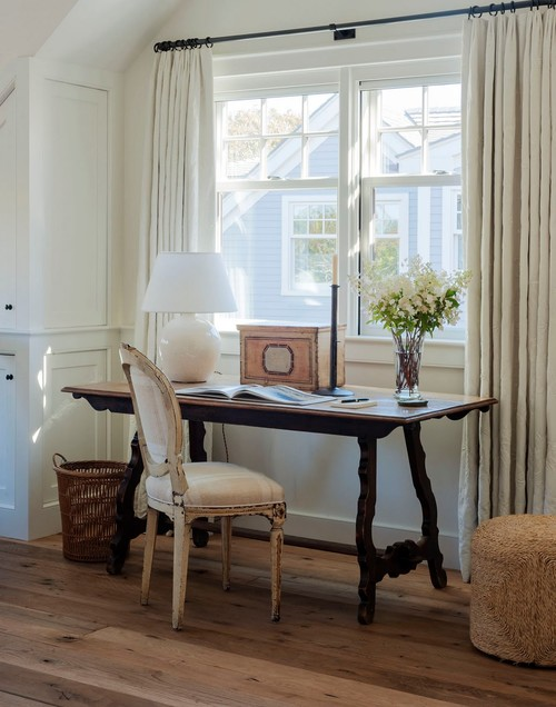 Farmhouse Home Office at Oyster Pond Estate