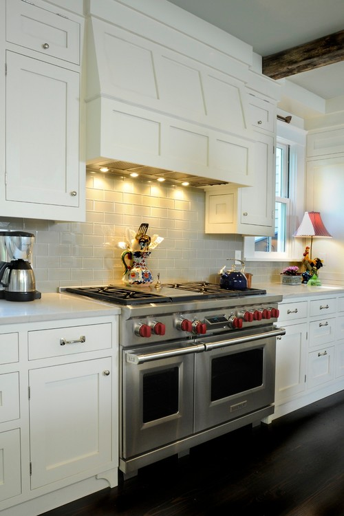 Farmhouse Kitchen with Industrial Stove