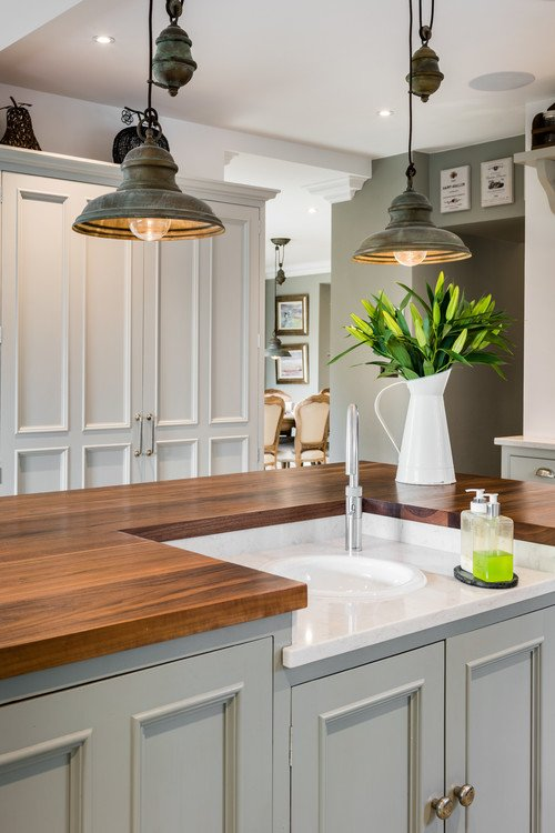 Pendant lighting ideas and options town country living for Farmhouse style kitchen lighting