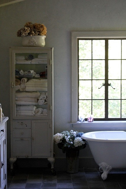 Country Style Bathroom with Claw Foot Tub