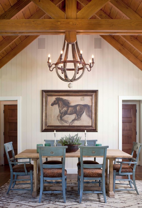 Rustic Dining Room in Colorado Photo by Ashley Campbell Interior Design