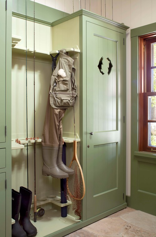 Rustic Entry with Custom Fishing Storage