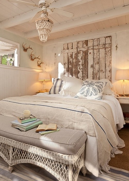 Popular Shabby Chic Bedroom in a Vintage Cottage
