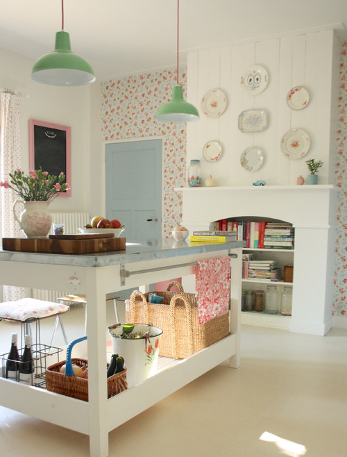 Nordic Kitchen with Shabby Chic Style