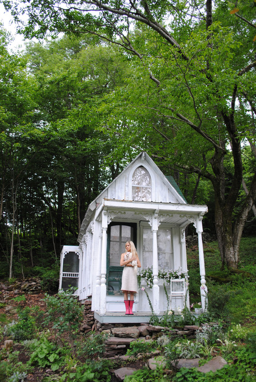 Gartenhaus Shabby Chic she shed or potting shed town country living