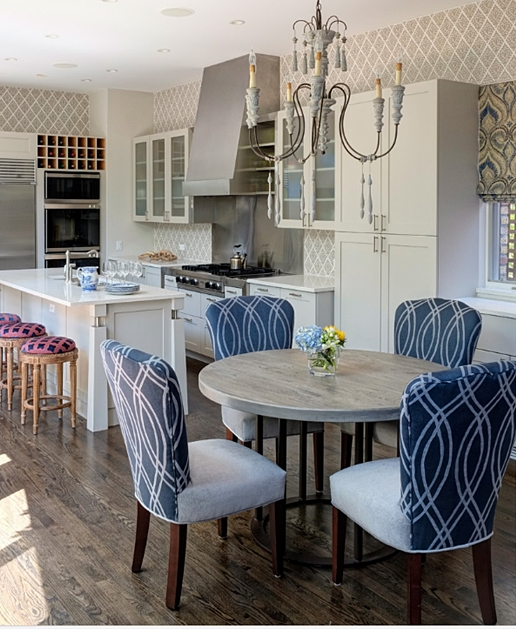 Wallpapered Kitchens - see inspiring examples