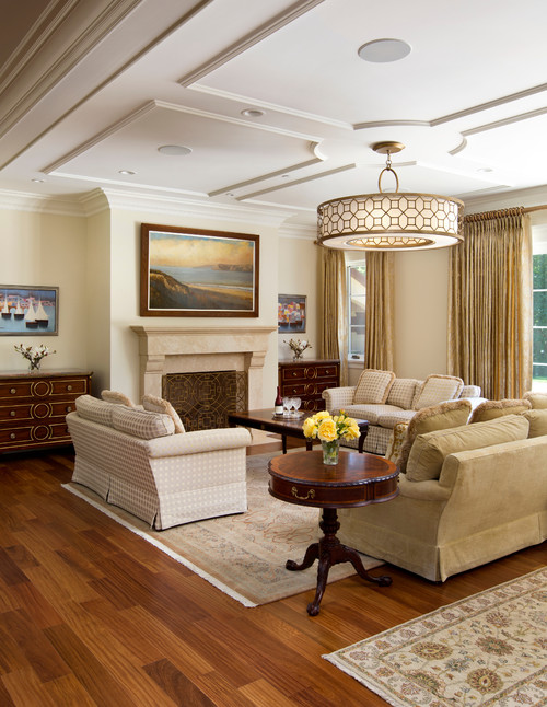 Pendant Lighting In Traditional Living Room