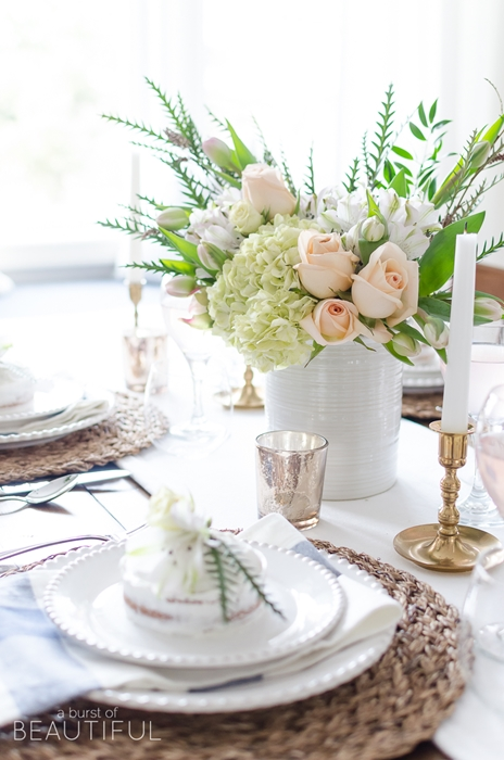 Spring Table Setting by Burst of Beautiful  sc 1 st  Town u0026 Country Living : spring table setting ideas - pezcame.com