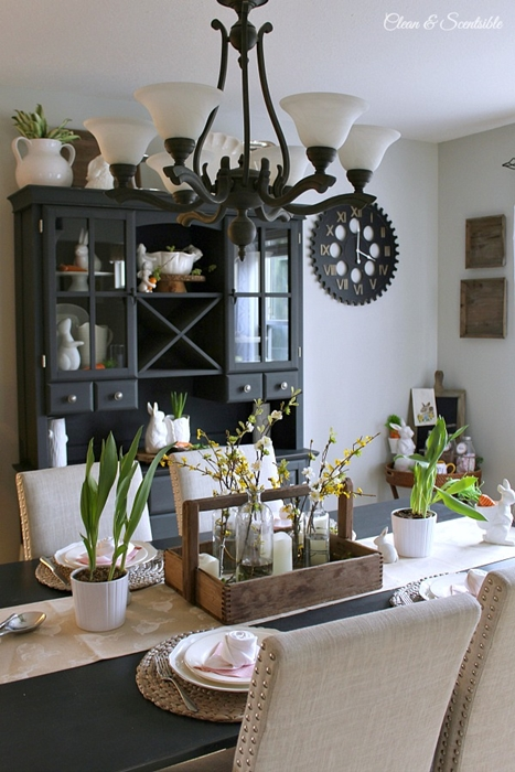 Spring Table Setting by Clean and Scentsible