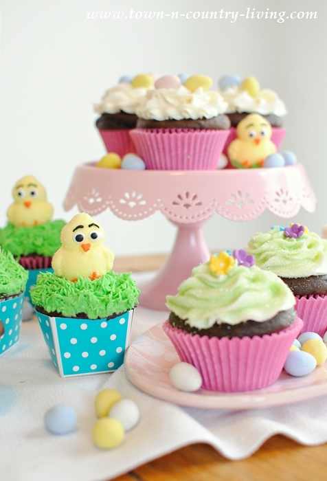 Spring Cupcakes. Easter cupcakes.