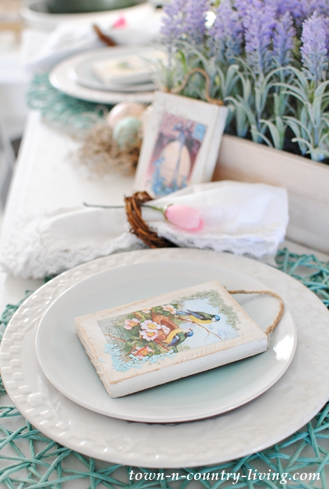 Easter Table Setting with Vintage Printables