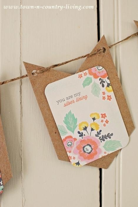Spring Banner. crafts, diy, spring decor, simple banner, wood chip banner