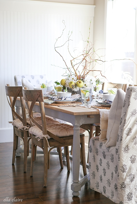 Spring Table Setting by Ella Claire