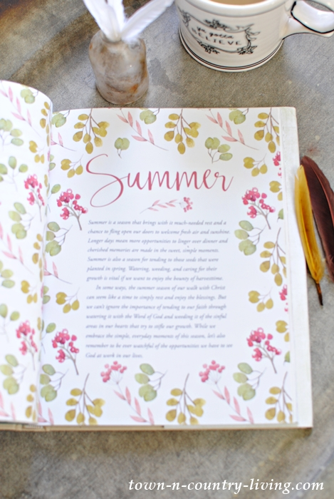 The Summer Section of the new book, Life in Season
