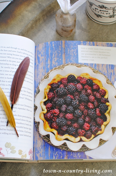 Blackberry Pie Recipe found in Life of Season