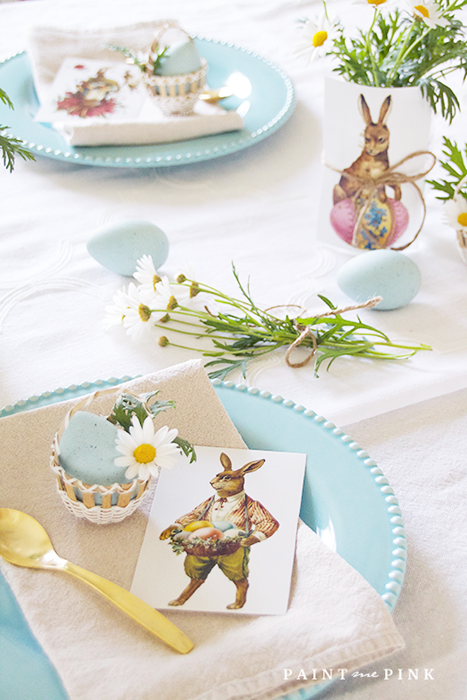Easter Table Setting by Paint Me Pink