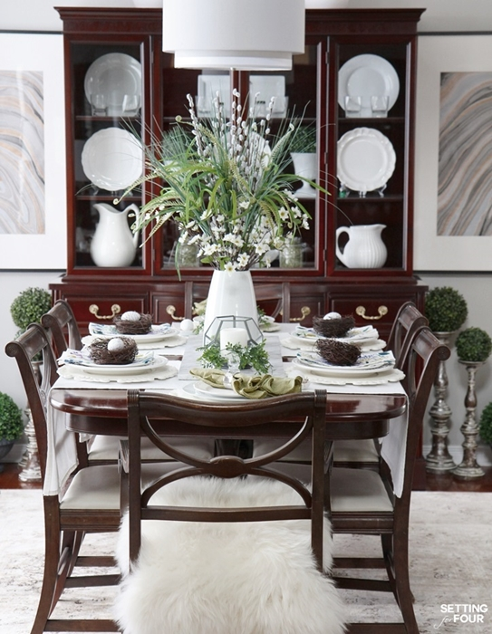 Spring Tablescape by Setting for Four