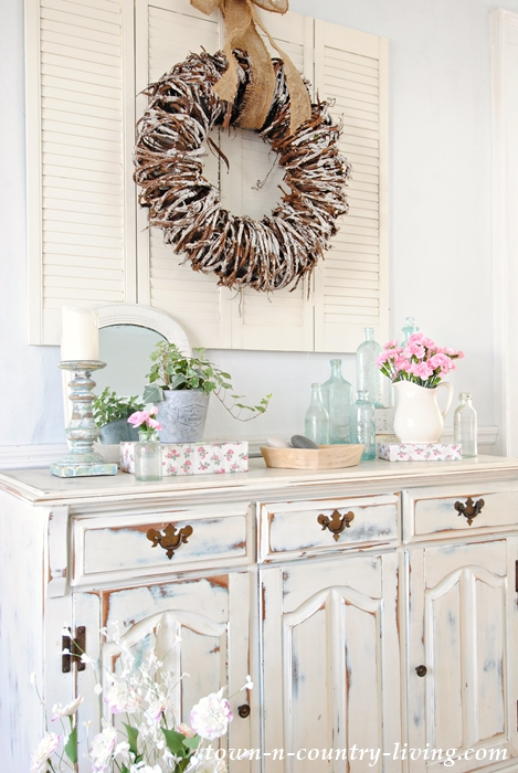 Create A Spring Vignette Shabby Chic Painted Furniture Distressed White