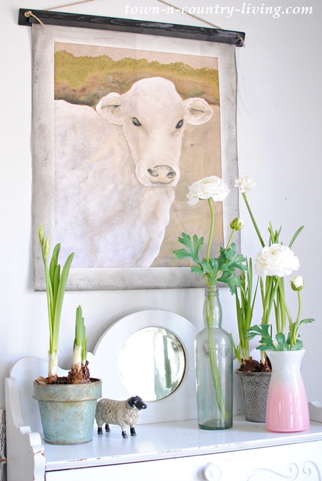 Farmhouse Decor. Cow Oil Painting