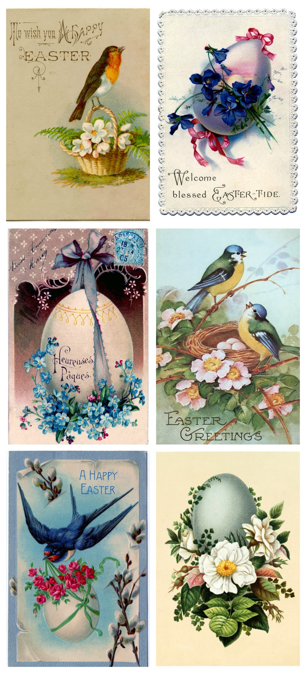 Vintage Easter Printable Town & Amp Country Living