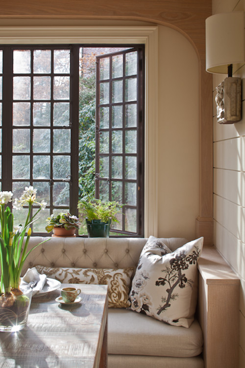 Farmhouse Window Banquette