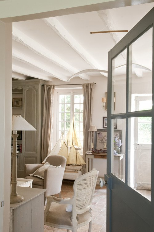 French country cottage charming home tour town - Decoration maison de campagne chic ...