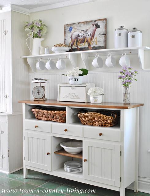 open shelving ideas, farmhouse kitchen, farmhouse decor, kitchen ideas, kitchen sideboard