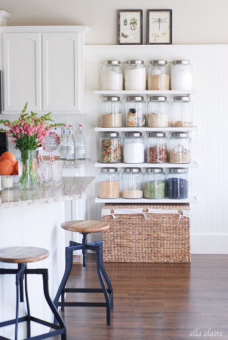 kitchen shelving ideas, open shelving ideas, country kitchen, farmhouse kitchen