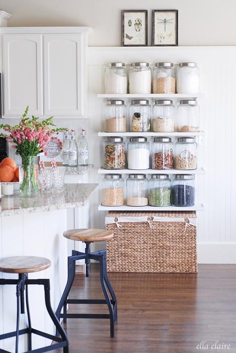 kitchen shelving ideas, open shelving ideas, country kitchen, farmhouse kitchen